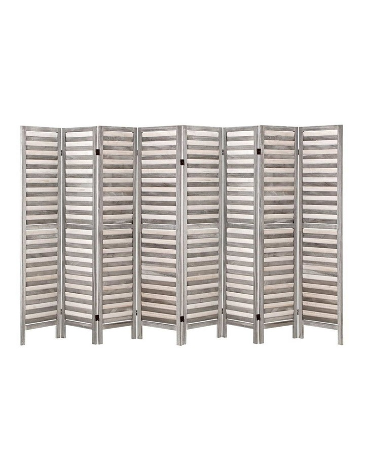 8 Panel Room Divider Screen Privacy Wood Dividers Timber Stand Grey image 1