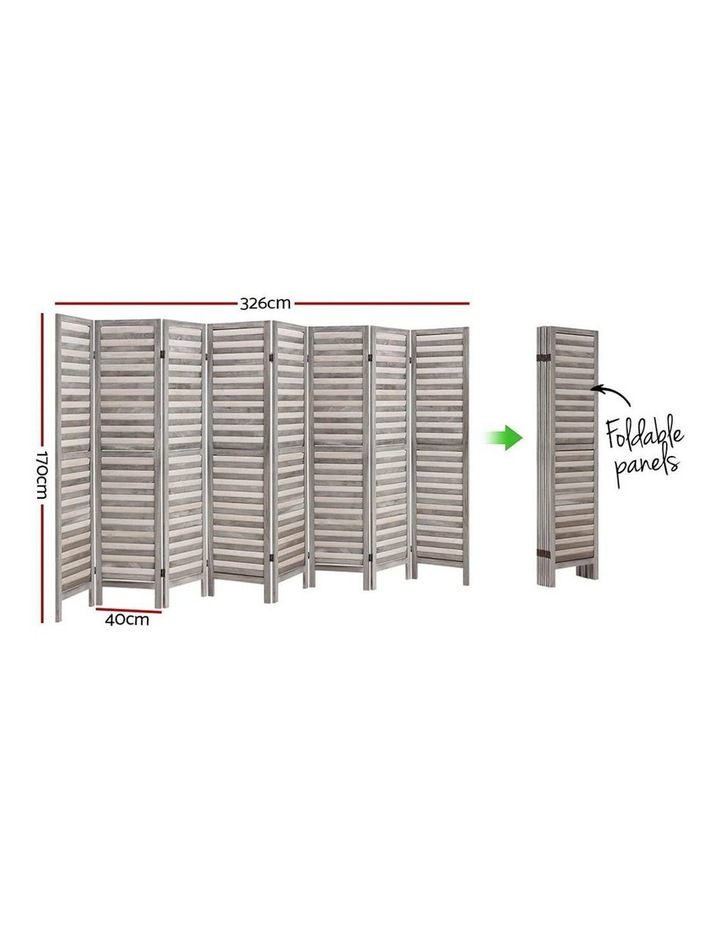 8 Panel Room Divider Screen Privacy Wood Dividers Timber Stand Grey image 2