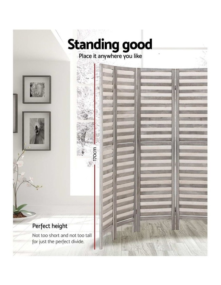 8 Panel Room Divider Screen Privacy Wood Dividers Timber Stand Grey image 3