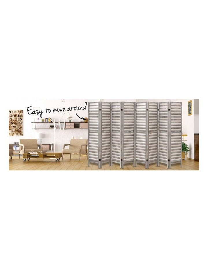 8 Panel Room Divider Screen Privacy Wood Dividers Timber Stand Grey image 5