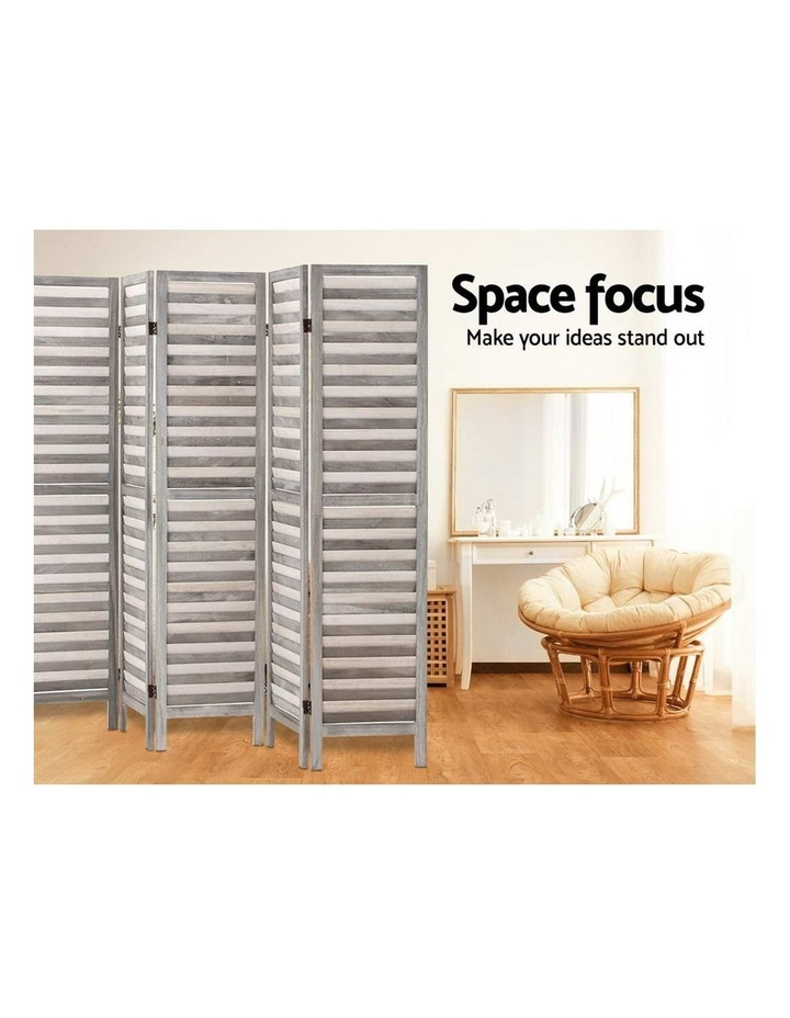 8 Panel Room Divider Screen Privacy Wood Dividers Timber Stand Grey image 6