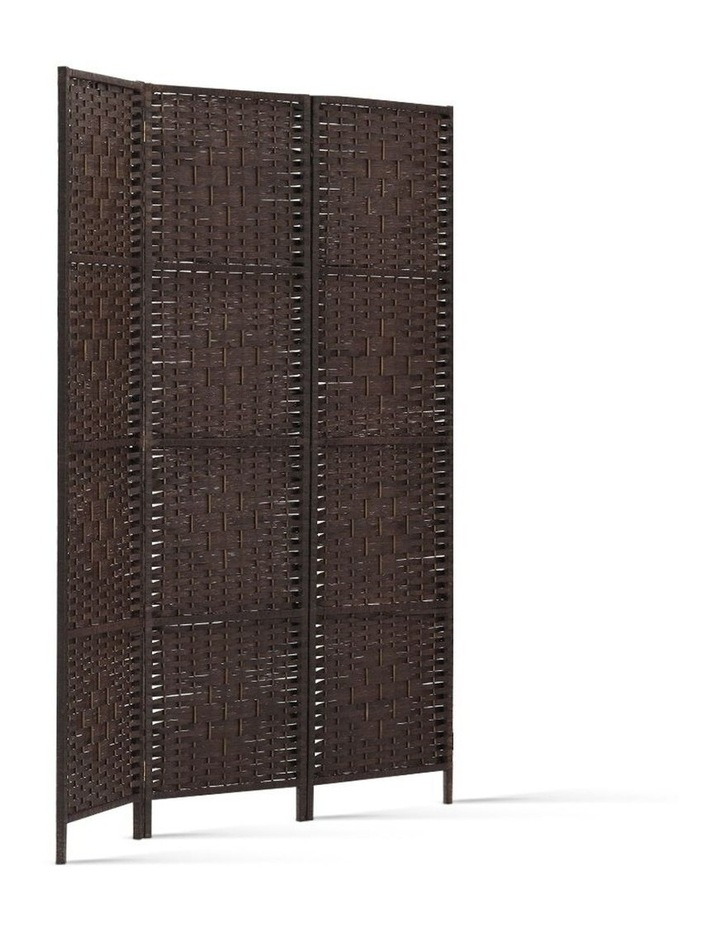 3 Panel Room Divider Privacy Screen Rattan Frame Stand Fold Woven Brown image 3