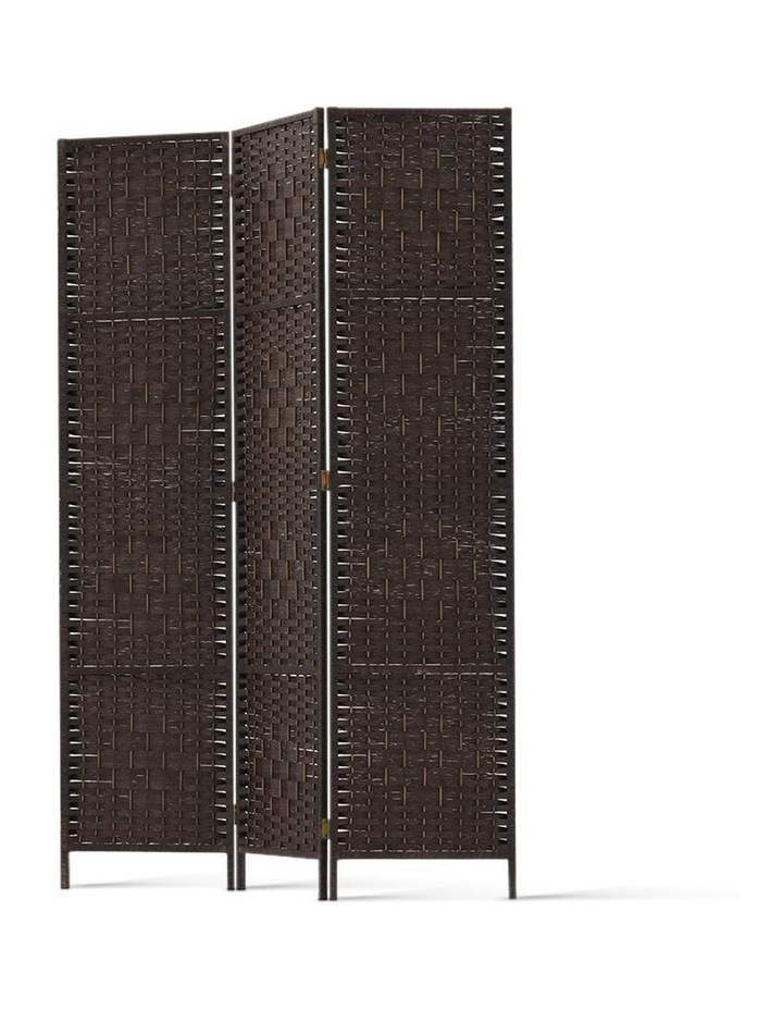 3 Panel Room Divider Privacy Screen Rattan Frame Stand Fold Woven Brown image 4