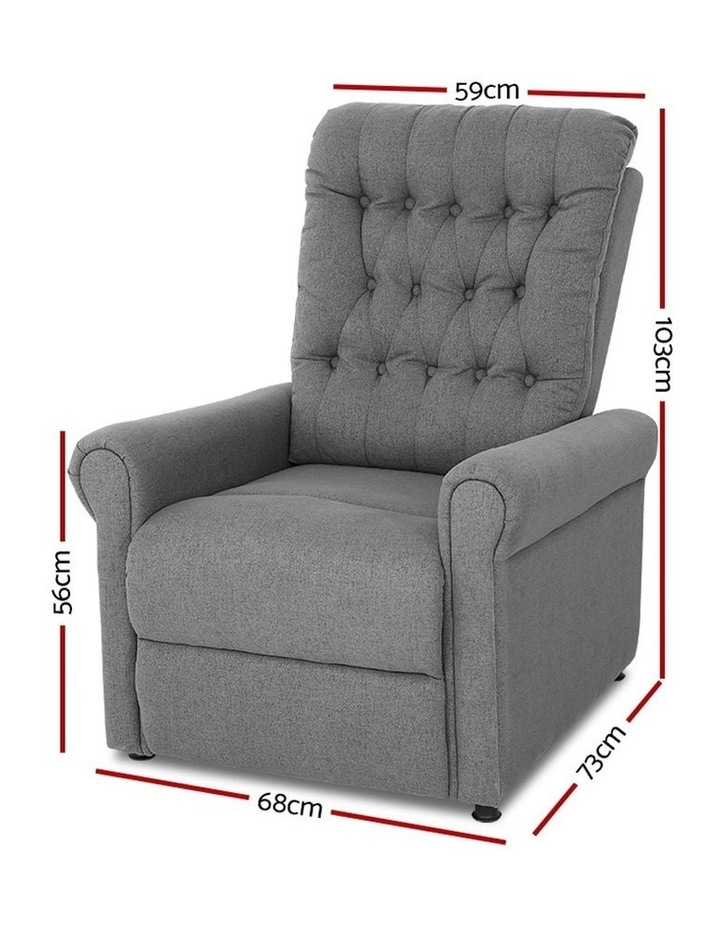 Massage Recliner Chair Sofa Lounge Electric Armchair Couch 8 Point Heated image 2