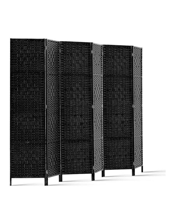 6 Panel Room Divider - Black image 1