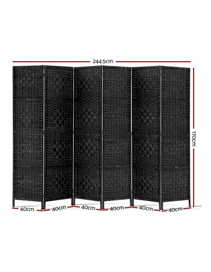6 Panel Room Divider - Black image 2
