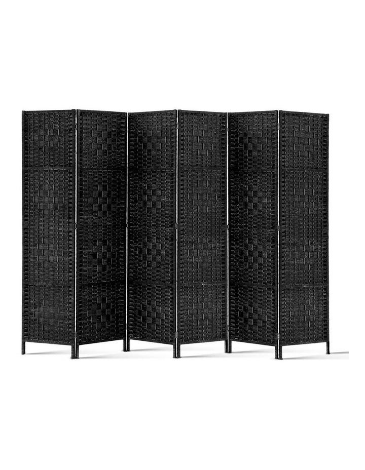 6 Panel Room Divider - Black image 3
