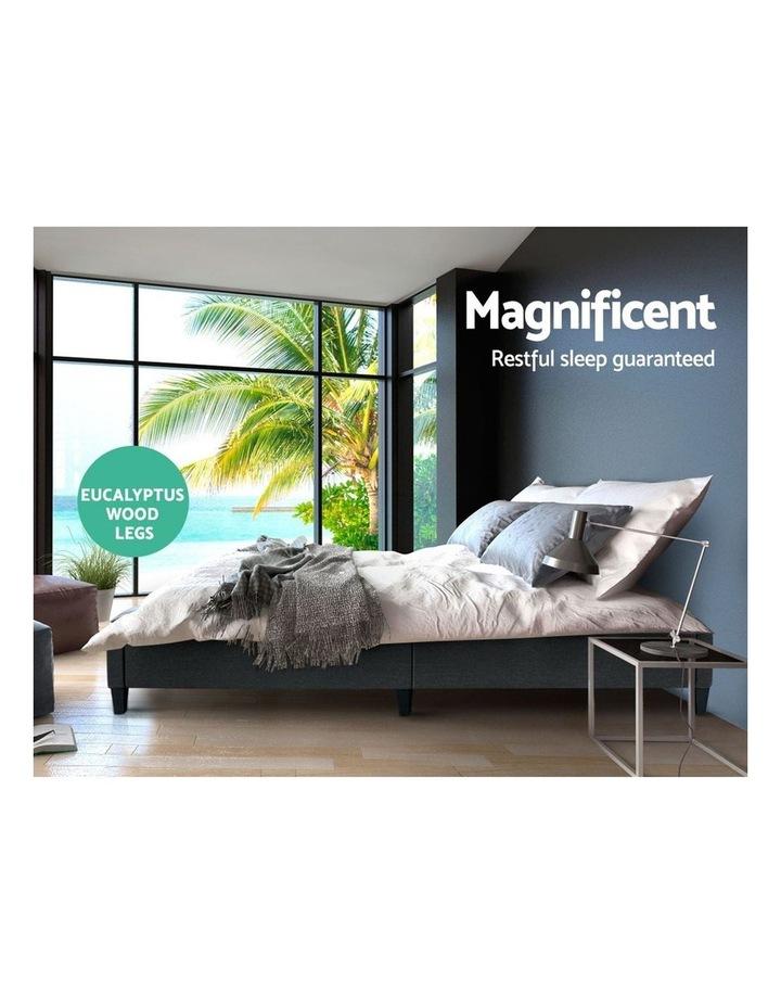 QUEEN Size Bed Base Frame BRISK Fabric Platform Mattress Char image 3