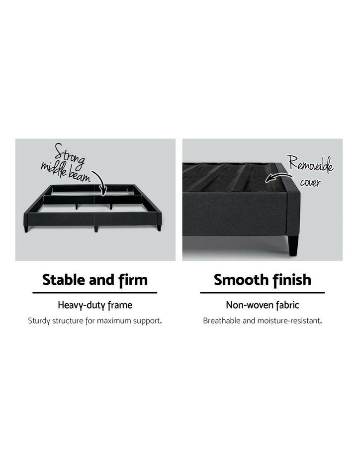 QUEEN Size Bed Base Frame BRISK Fabric Platform Mattress Char image 4