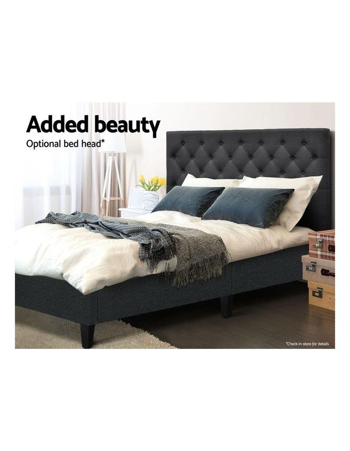 QUEEN Size Bed Base Frame BRISK Fabric Platform Mattress Char image 5