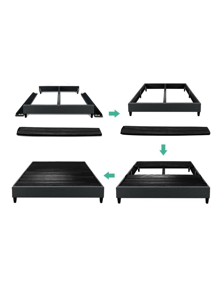 QUEEN Size Bed Base Frame BRISK Fabric Platform Mattress Char image 6