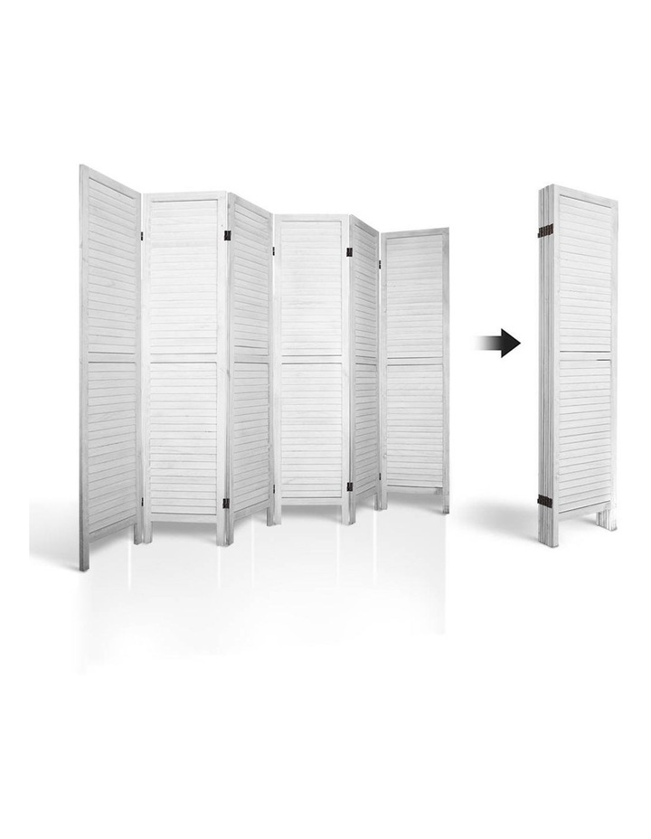 6 Panel Room Divider Screen Bed Privacy Wood Foldable Stand Timber White image 5