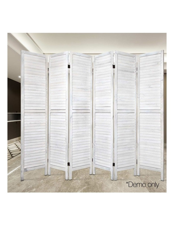 6 Panel Room Divider Screen Bed Privacy Wood Foldable Stand Timber White image 6