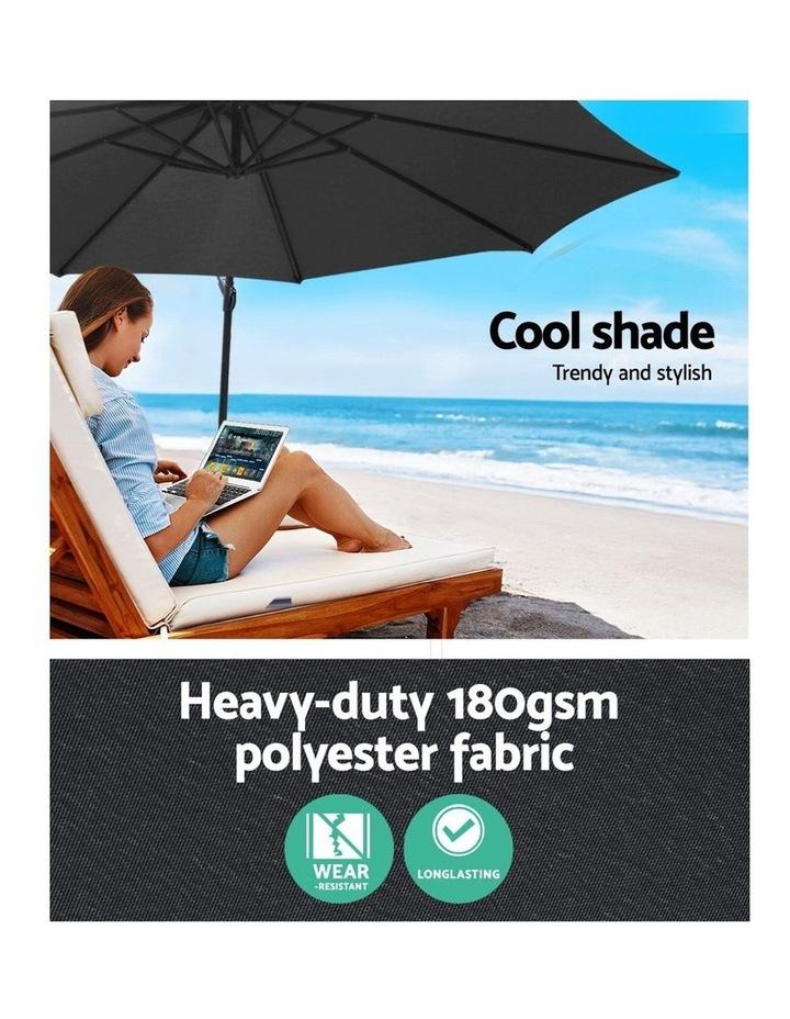 3M Garden Umbrella Outdoor Furniture Cantilever Shade Patio Charcoal image 5