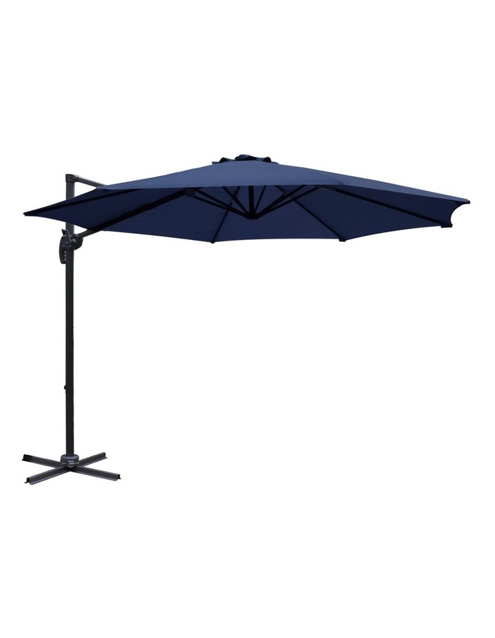 Deluxe Roma Outdoor Furniture Garden Umbrella Patio 360 Degree Navy image 1