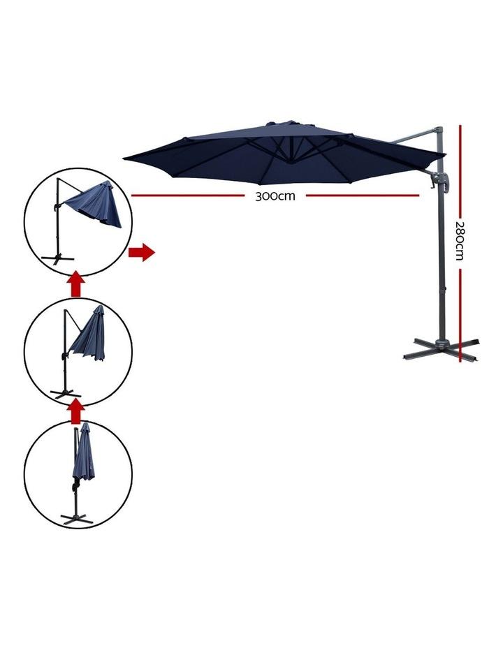 Deluxe Roma Outdoor Furniture Garden Umbrella Patio 360 Degree Navy image 2