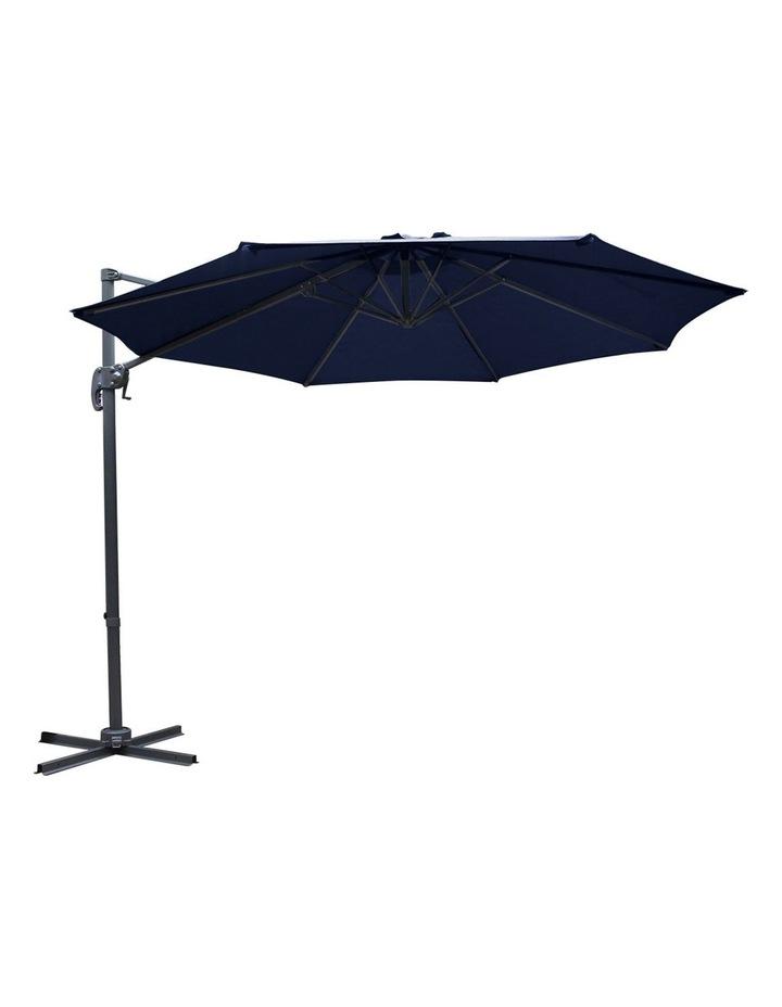 Deluxe Roma Outdoor Furniture Garden Umbrella Patio 360 Degree Navy image 3