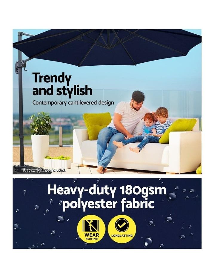 Deluxe Roma Outdoor Furniture Garden Umbrella Patio 360 Degree Navy image 6