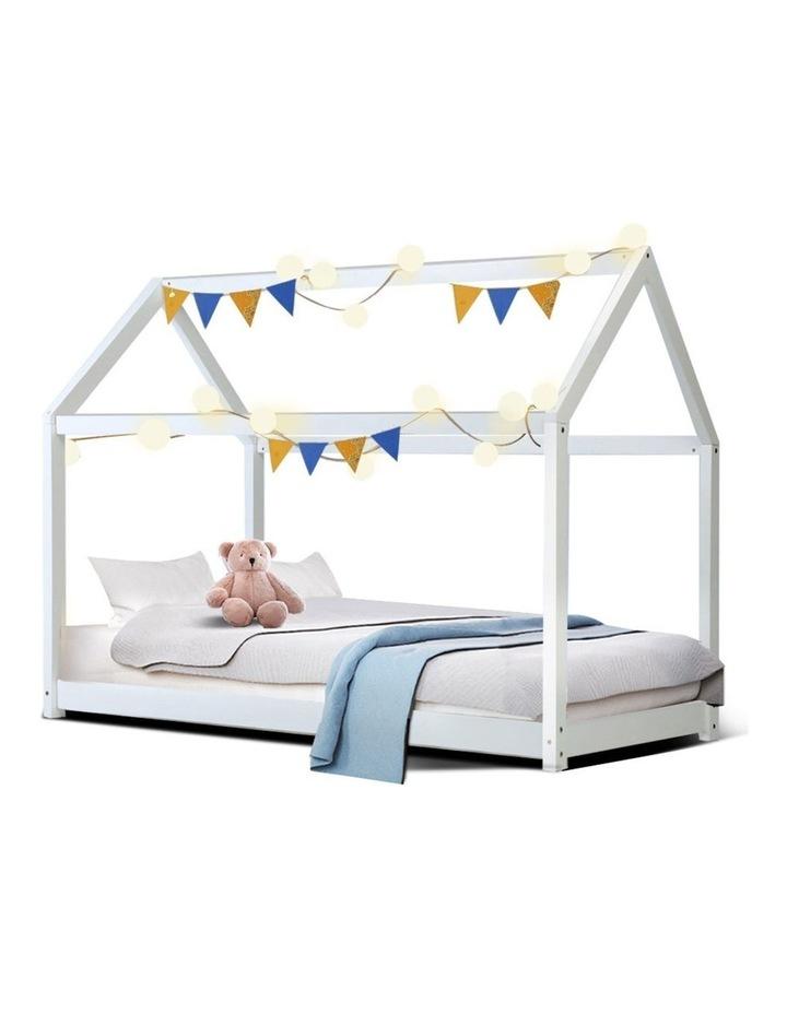 SINGLE Size LEXI Kids Bed Frame Mattress Base Pine Timber Platform Bedroom Trundle Drawers Compatible image 1