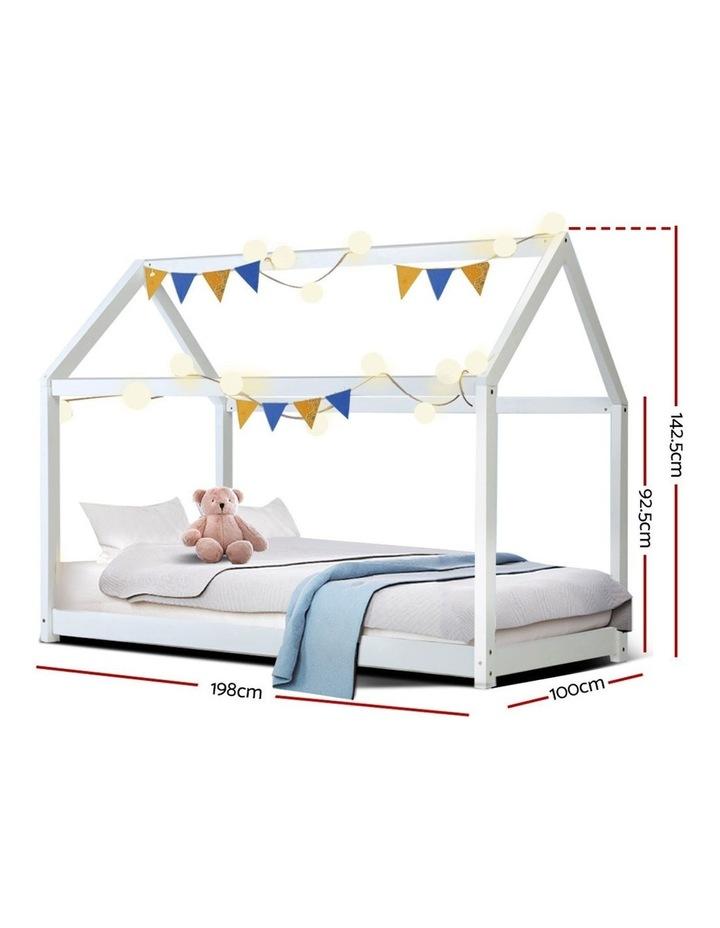 SINGLE Size LEXI Kids Bed Frame Mattress Base Pine Timber Platform Bedroom Trundle Drawers Compatible image 2
