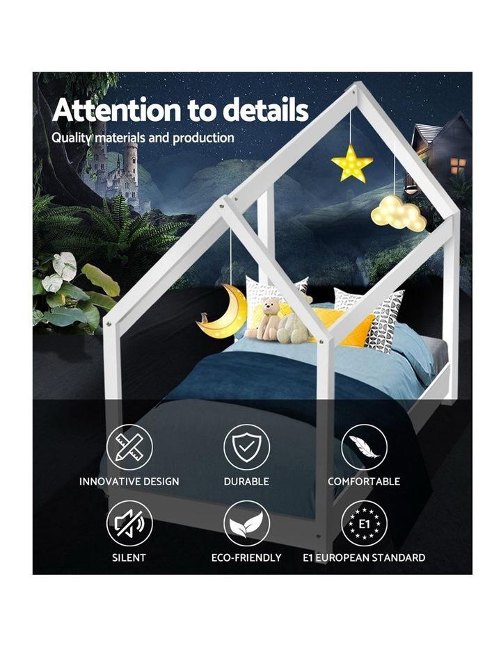 SINGLE Size LEXI Kids Bed Frame Mattress Base Pine Timber Platform Bedroom Trundle Drawers Compatible image 3