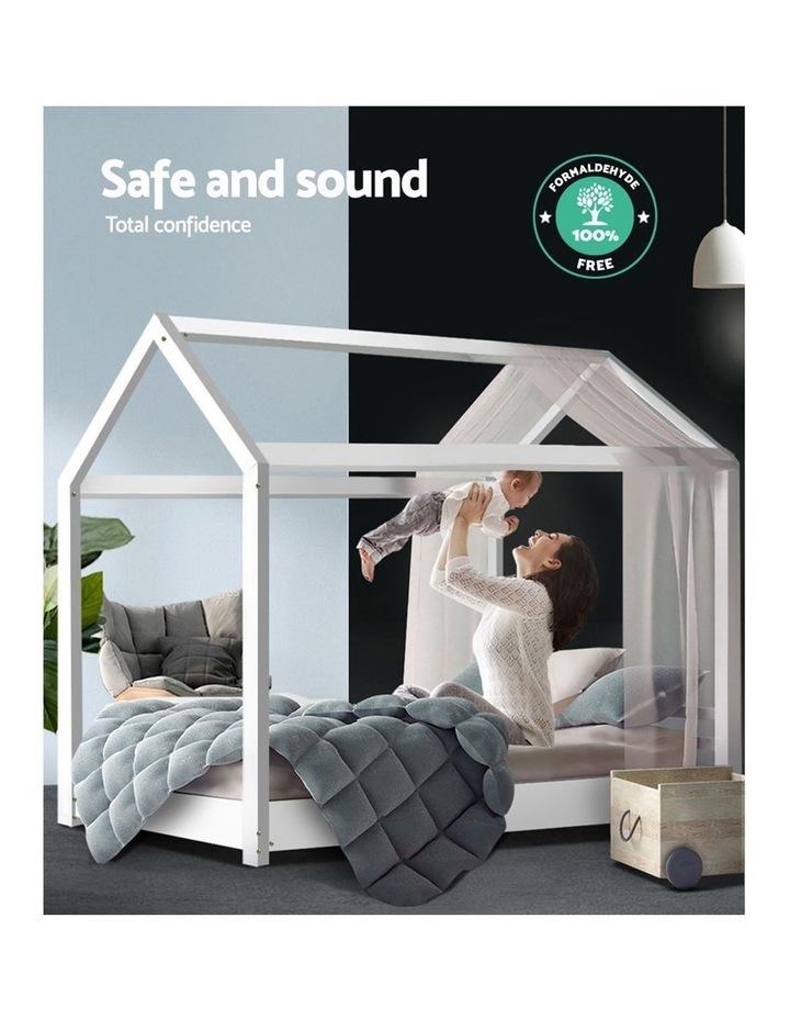 SINGLE Size LEXI Kids Bed Frame Mattress Base Pine Timber Platform Bedroom Trundle Drawers Compatible image 6