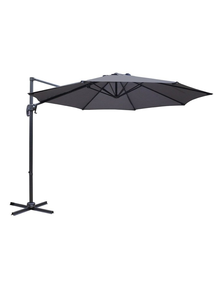 Deluxe Roma Outdoor Furniture Garden Umbrella Patio 360 Degree Charcoal image 1