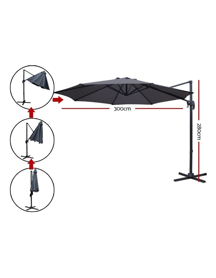 Deluxe Roma Outdoor Furniture Garden Umbrella Patio 360 Degree Charcoal image 2