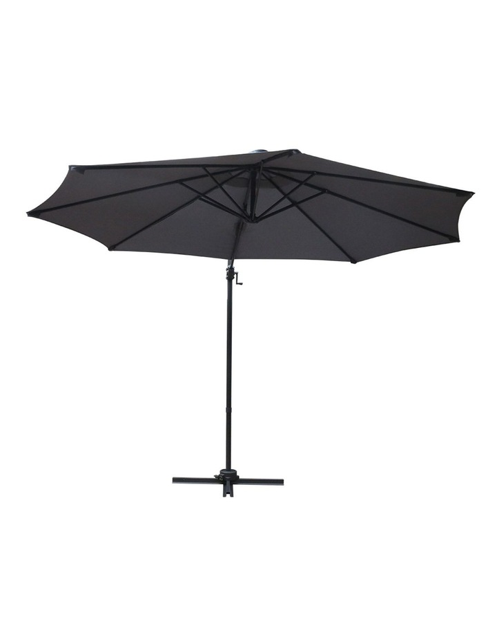 Deluxe Roma Outdoor Furniture Garden Umbrella Patio 360 Degree Charcoal image 3