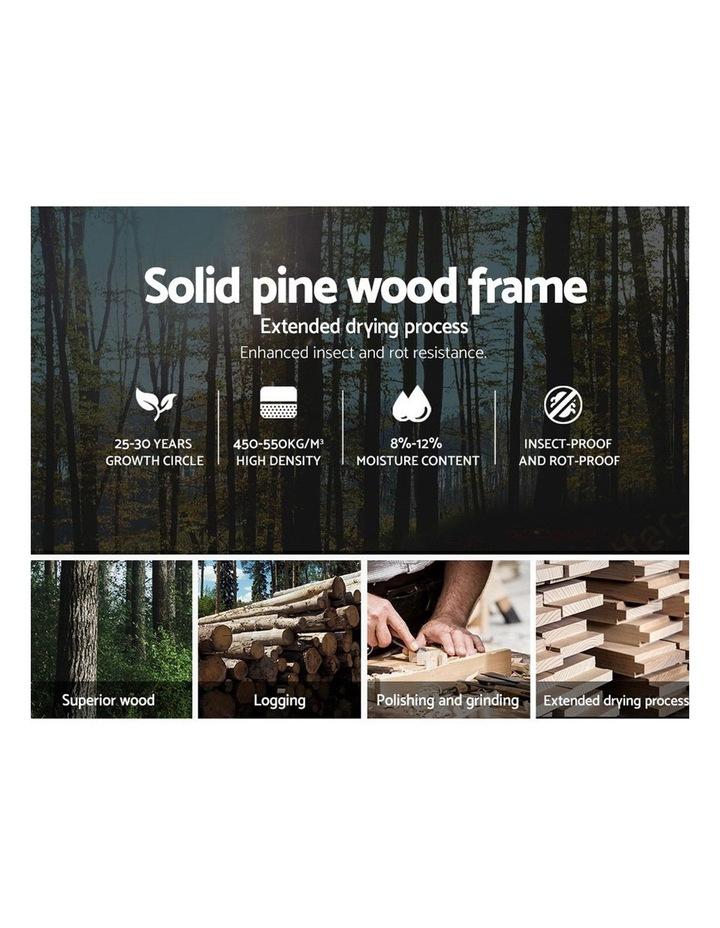 Queen Size Wooden Bed Frame Mattress Base Timber Platform White LEXI image 4
