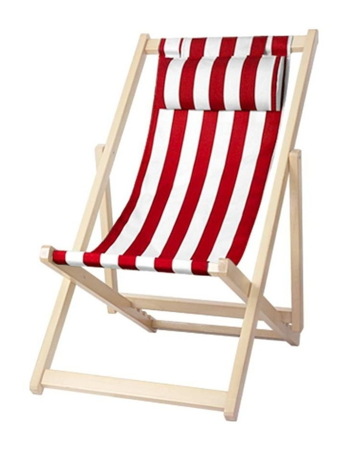 Artiss Outdoor Furniture Sun Lounge Chairs Deck Chair Folding Wooden Beach Patio image 1