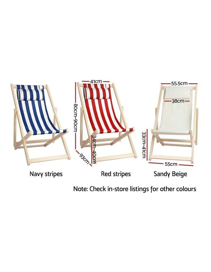 Artiss Outdoor Furniture Sun Lounge Chairs Deck Chair Folding Wooden Beach Patio image 2