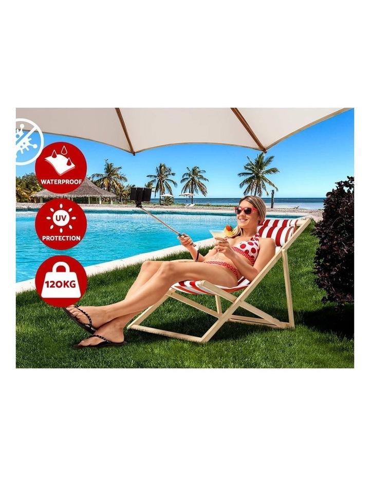 Artiss Outdoor Furniture Sun Lounge Chairs Deck Chair Folding Wooden Beach Patio image 4