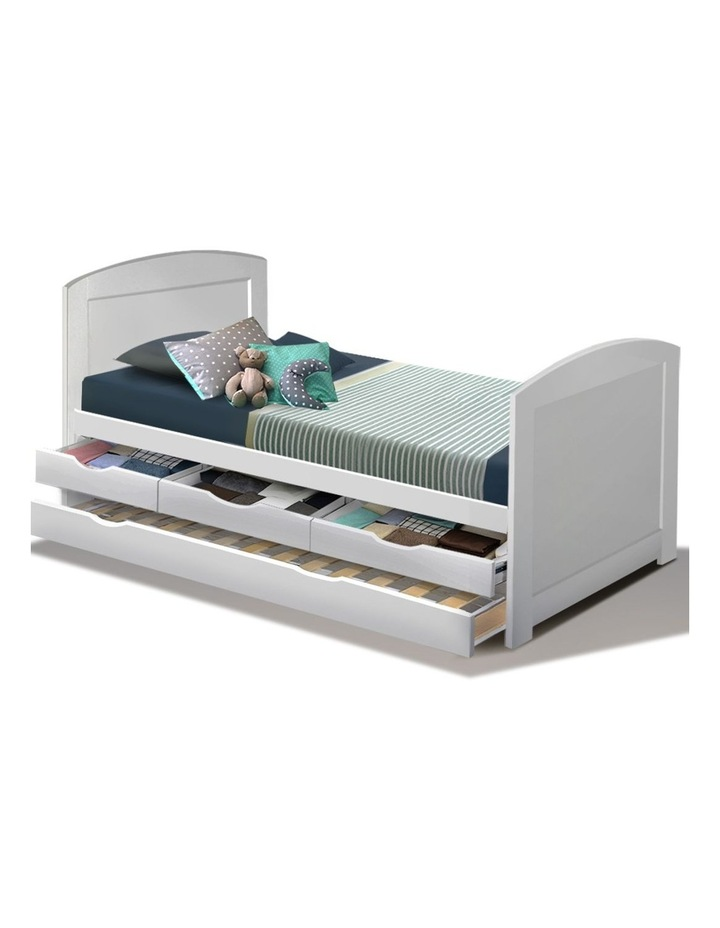 Artiss Single Size Duncan Wooden Bed, Full Size Bed With Trundle And Storage Drawers