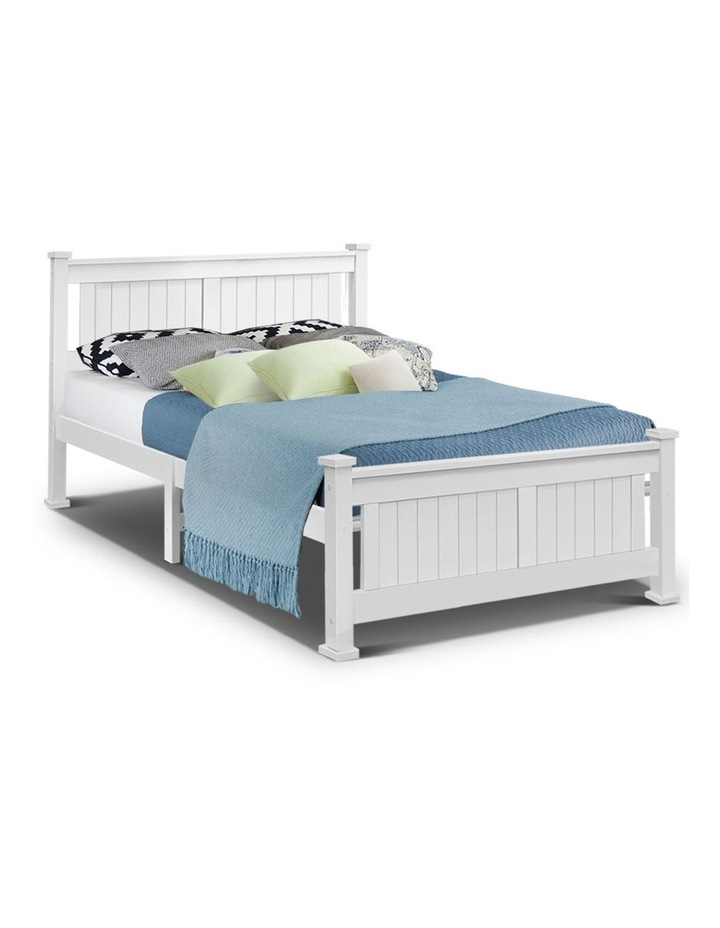 Double Size Wooden Bed Frame Timber Kids Adults Bedroom Mattress Base image 1