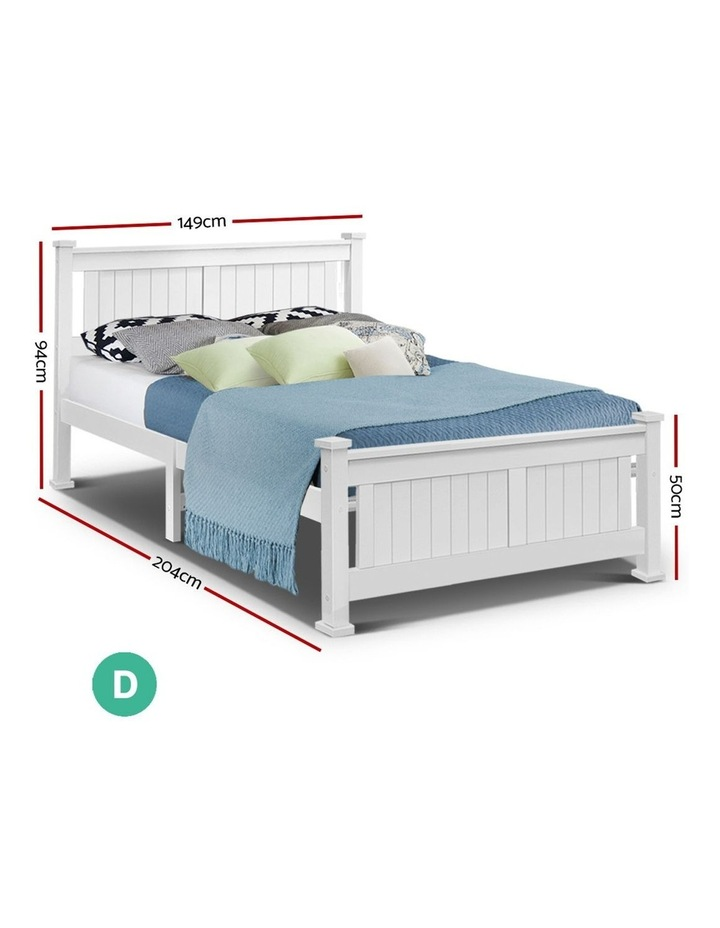 Double Size Wooden Bed Frame Timber Kids Adults Bedroom Mattress Base image 2