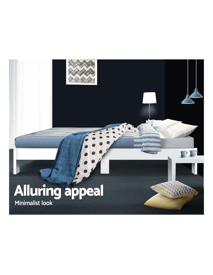KING Size Bed Frame Timber Pine Wood White Mattress Base Platform Bedroom Drawers image 6
