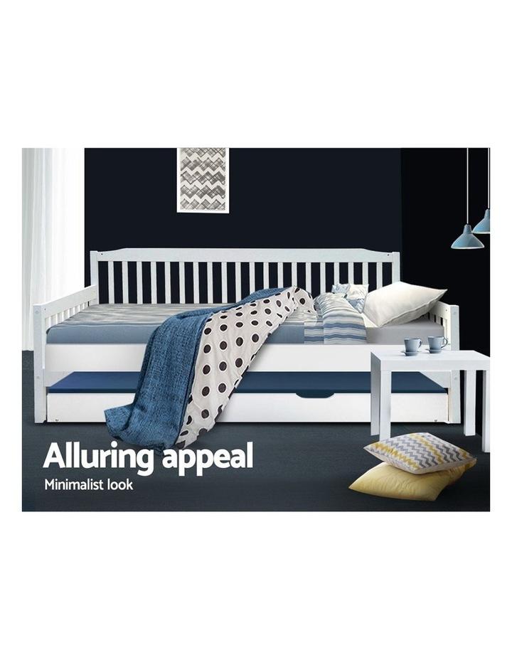 SINGLE Size Wooden Sofa Bed Frame White Daybed Mattress Base Platform Timber Pine Wood  Bedroom Kids Adults image 5
