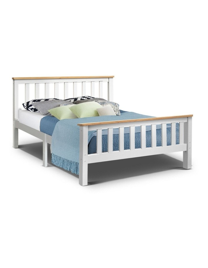 Double Full Size Wooden Bed Frame PONY Timber Mattress Base Bedroom Kids image 1