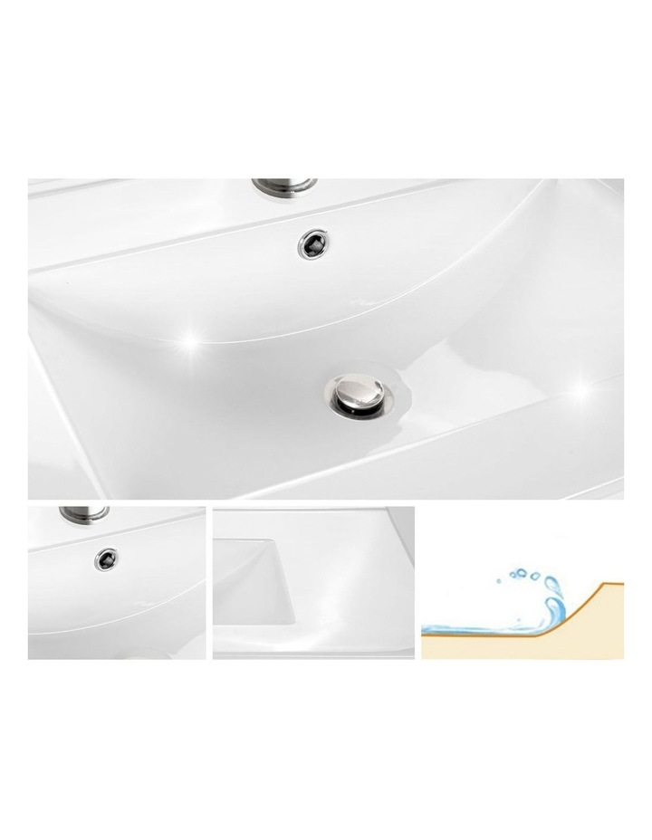 900mm Bathroom Vanity Cabinet Basin Unit Wash Sink Storage Wall Mounted White image 3