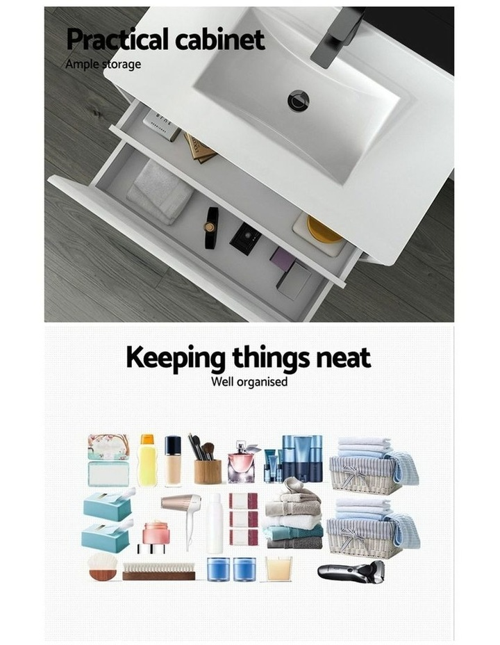 900mm Bathroom Vanity Cabinet Basin Unit Wash Sink Storage Wall Mounted White image 5