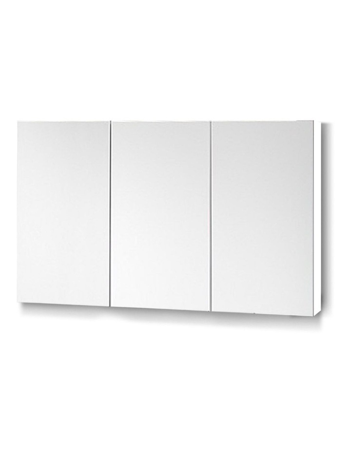 Bathroom Vanity Mirror with Storage Cabinet - White image 1