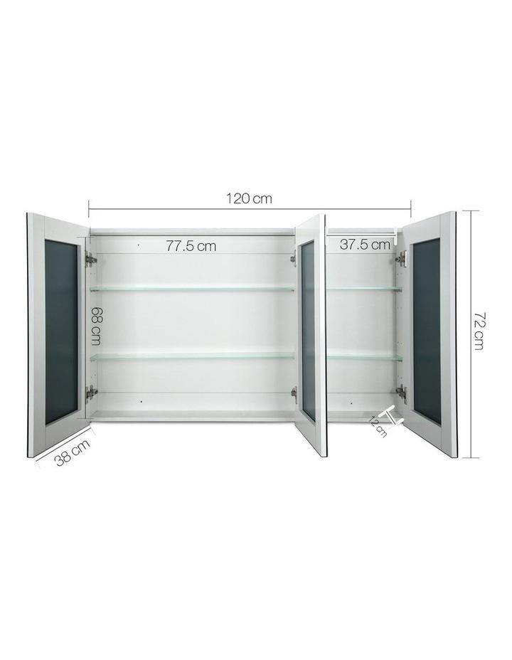 Bathroom Vanity Mirror with Storage Cabinet - White image 2