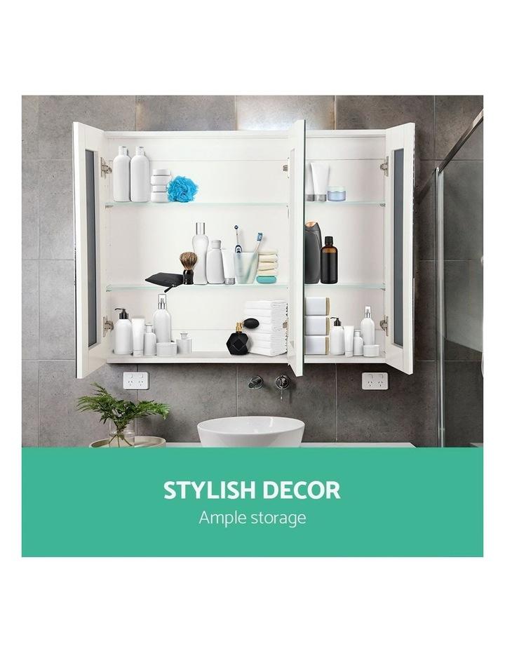 Bathroom Vanity Mirror with Storage Cabinet - White image 4