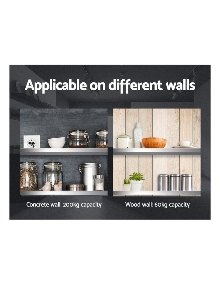 Stainless Steel Wall Shelf Kitchen Shelves Rack Mounted Display Shelving 600mm image 4