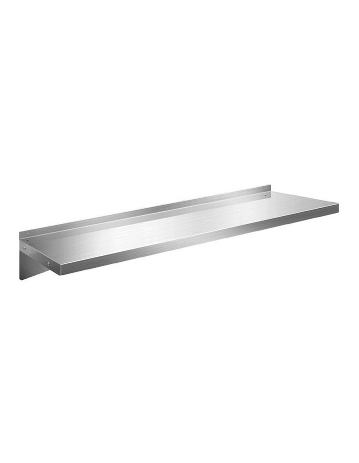 Stainless Steel Wall Shelf Kitchen Shelves Rack Mounted Display Shelving 1500mm image 1
