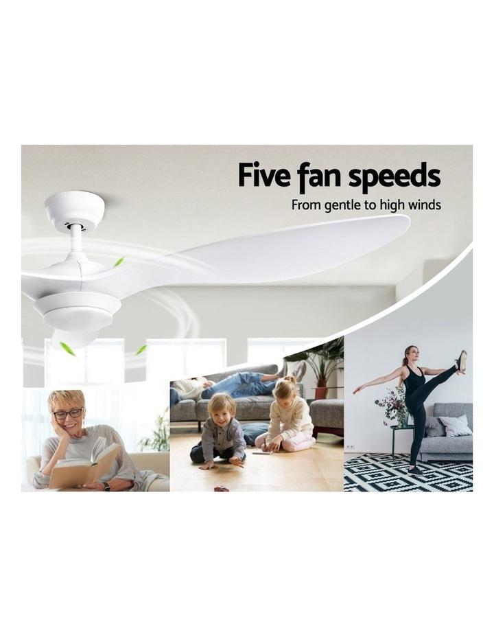 52'' DC Motor Ceiling Fan w/LED Light w/Remote 8H Timer Reverse Mode 5 Speeds image 3