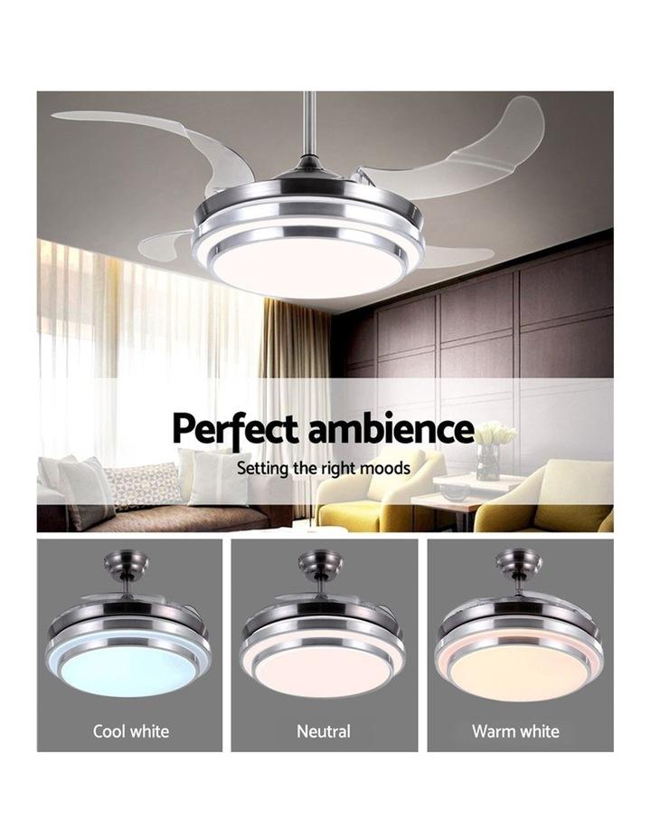 42'' Ceiling Fan Lamp LED Light Retractable Blade Ceiling Fan w/Remote image 3