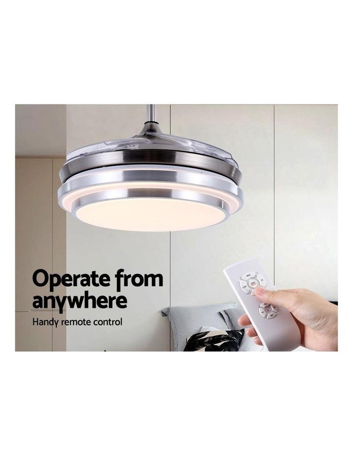 42'' Ceiling Fan Lamp LED Light Retractable Blade Ceiling Fan w/Remote image 5