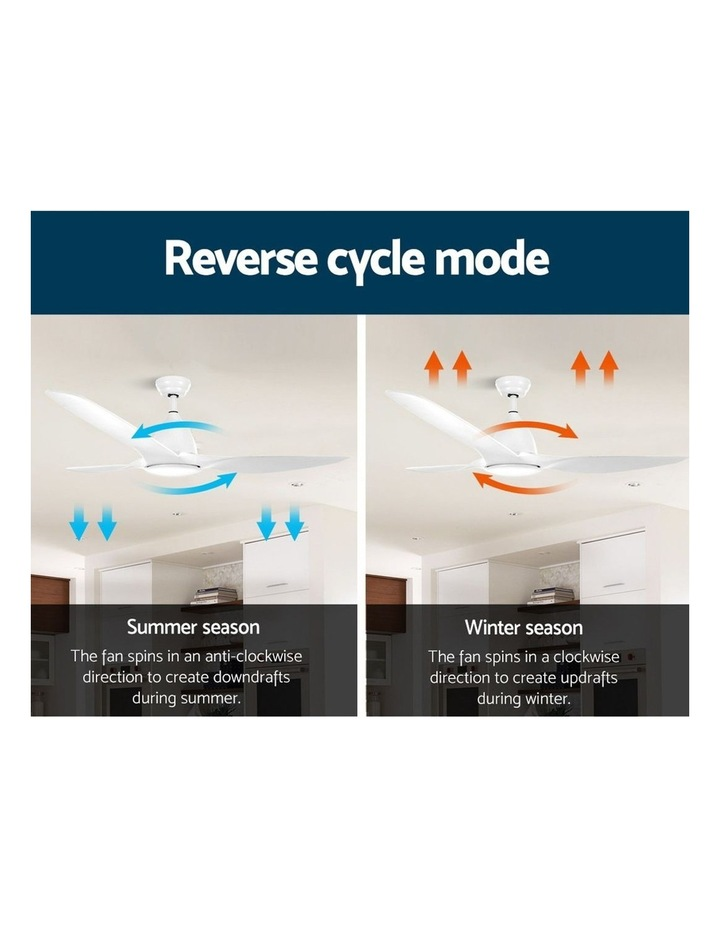 64'' DC Motor Ceiling Fan w/LED Light w/Remote 8H Timer Reverse Mode 5 Speeds image 4
